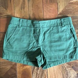 J. Grew forest green chino shorts